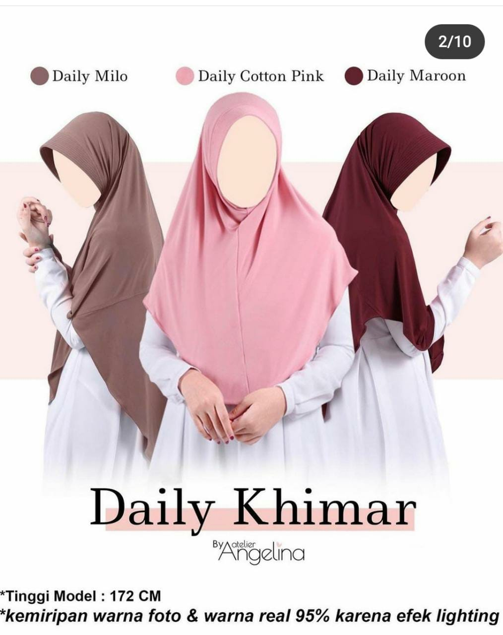 Daily Khimar by Atelier ANgelina (Size L)